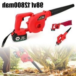 220V Electric Cordless Leaf Blower Lawn Yard Suction Sweeper