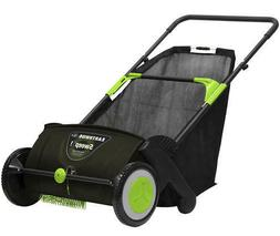 """30"""" Large Foldable Wheeled Lawn Sweeper Outdoor Yard Leaves"""